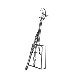 Wooden musical instruments mongol national vector