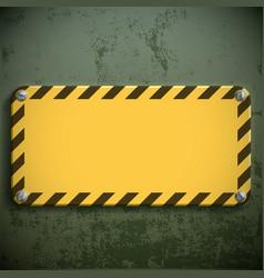 Yellow metal sign vector