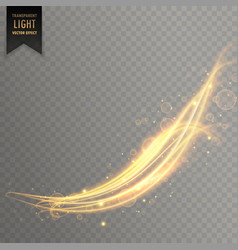 abstract wavy golden light effect background vector image vector image
