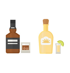 alcohol drinks beverages cocktail whiskey drink vector image vector image