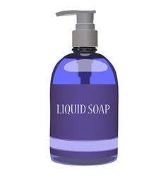 Purple soap bottle vector image