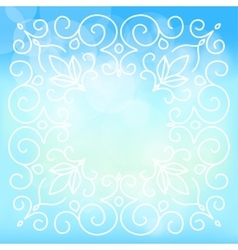 sky background with floral ornaments vector image vector image