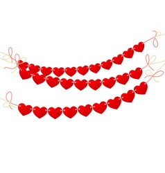 love heart bunting vector image vector image
