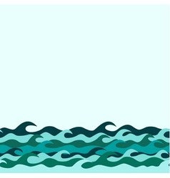 seamless decorative border from marine waves vector image