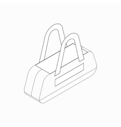 Sports bag icon isometric 3d style vector image