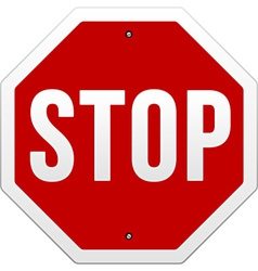 stop sign on white vector image