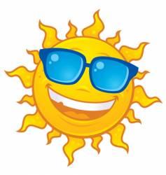 Sun wearing sunglasses vector