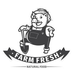 farm fresh vector image