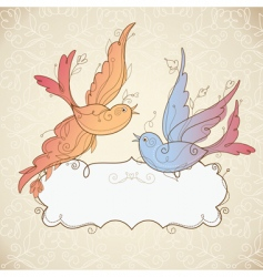 frame with birds vector image vector image