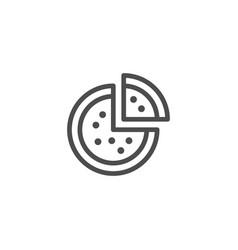 pizza line icon vector image vector image