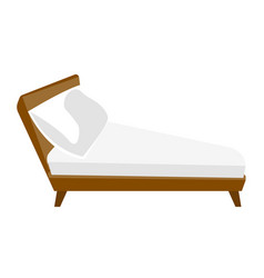 bed with white linen cartoon vector image vector image