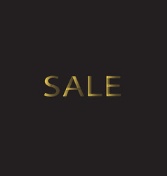 gold sale riveted letters vector image vector image