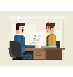 Job interview flat design vector image vector image
