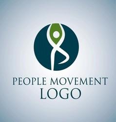 PEOPLE MOVEMENT LOGO 8 vector image