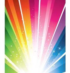 rainbow burst vector image