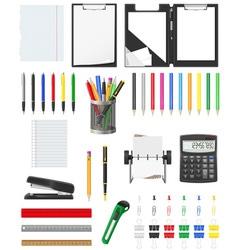 stationery set 01 vector image
