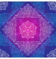 Vintage seamless violet-blue pattern vector image