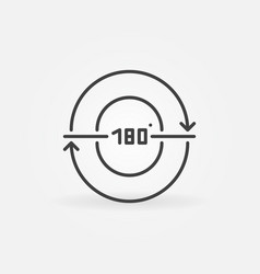 180-degrees linear concept minimal icon vector