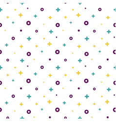 1980s style structured shape white memphis pattern vector image