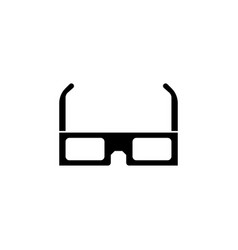 3d glasses icon isolated on white 3d glasses vector image