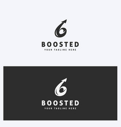 Arrow business logo design template vector
