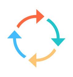 arrow sign refresh icon rotation symbol vector image
