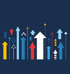 Arrows up increase and success business vector
