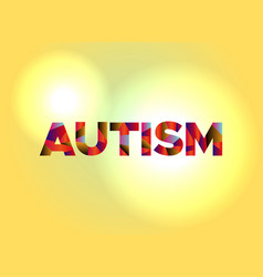 autism concept colorful word art vector image