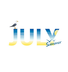 Banner year in july vector
