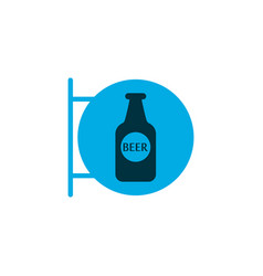 Beer sign icon colored symbol premium quality vector