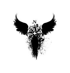 Black grunge symbol vector