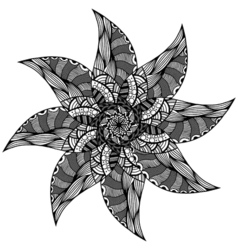 Black Rosette ornament vector