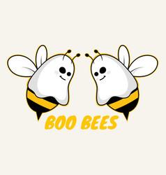 boo bees halloween image vector image