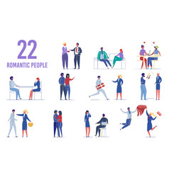 characters dating and creating romantic couples vector image