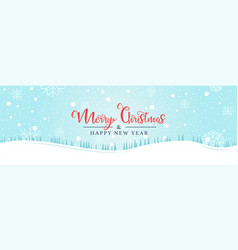 christmas background made snowflakes and snow vector image
