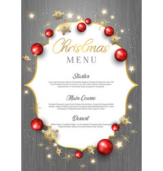 Christmas menu on wood texture vector