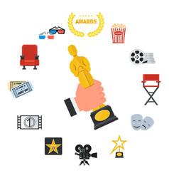 Cinema icons set vector