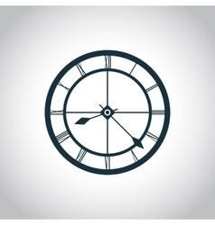 Clock simple icon vector
