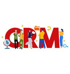Crm customer relationship management vector