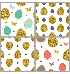 Decorative Easter seamless pattern vector image