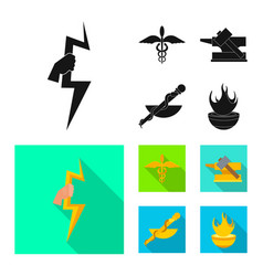 Design deity and antique symbol vector