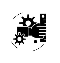development black concept icon development vector image