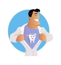 Doctor Dentist Character Design Flat vector