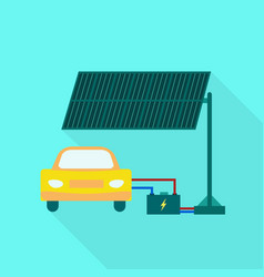 electric car charging icon flat style vector image
