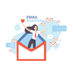 email marketing advertising campaign contern vector image