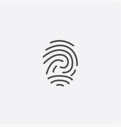 fingerprint outline icon vector image