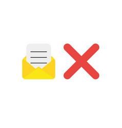 Flat design concept of open envelope and written vector
