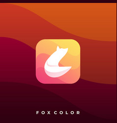 fox colorful design template vector image
