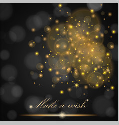 golden lights concept abstract on black ambient vector image