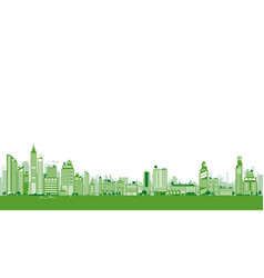 green city design building and tree with copy vector image